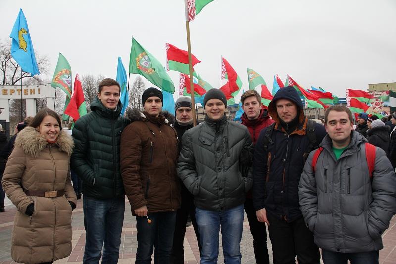 Представители ГГТУ посетили митинг в честь 73-ей годовщины освобождения Гомеля