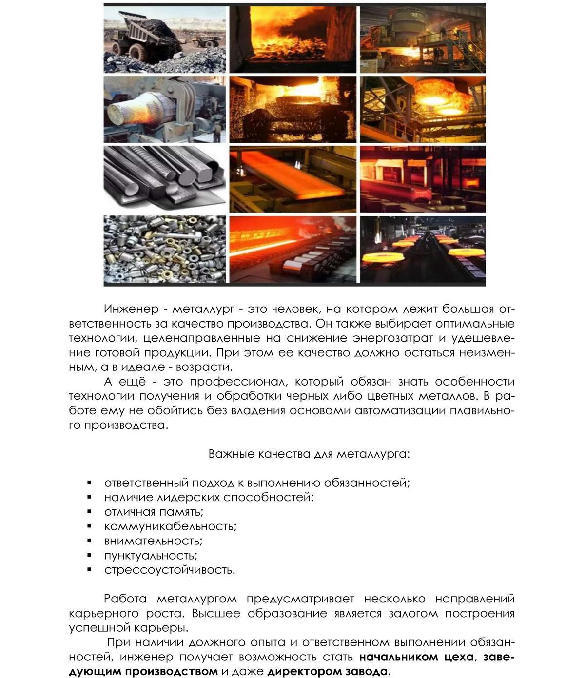 Новая генерация металлургов:  от фундаментальных знаний - к виртуозному  профессионализму 2
