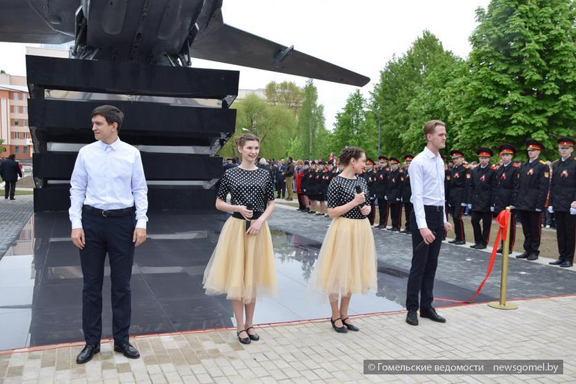 Открытие сквера ГГТУ имени П.О. Сухого с бомбардировщиком Су-24М 5